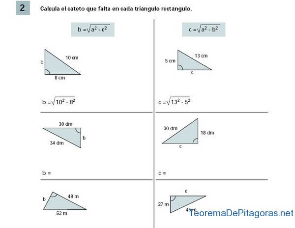 calcular cateto